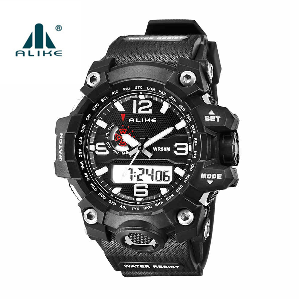 2016 New Hot LED Digital Army Military Watch Alike Brand Men 50M Dive Swimming Sports Watches Outdoor Wristwatches montre homme