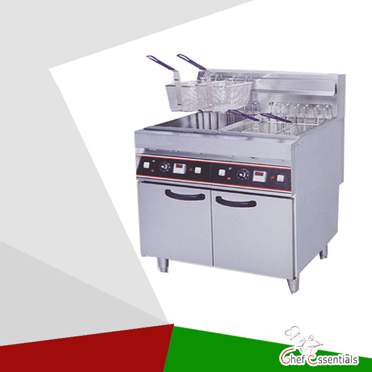 PK-JG-DF26-2 Electric 2-Tank Fryer, 4-Basket, Freestanding Type, for Commercial Kitchen free shipping china left handed str electric guitar aged in cream 160106 0320
