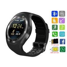 Смарт-часы Y1 Для женщин женские для фитнеса с Whatsapp Водонепроницаемый IP67 Smartwatch Камера карты памяти слот для sim-карты Android часы для мужчин
