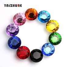 1PCS K9 Crystal Glass 40mm Diamond Furniture Handles Hardware Drawer Wardrobe Kitchen Cabinets Fashion Cupboard Door Pull Knobs(China)