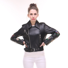 Direct supply from factory Genuine leather New style Lady suit Sheepskin Short style Jacket High-end Long Sleeve Lapel Nature