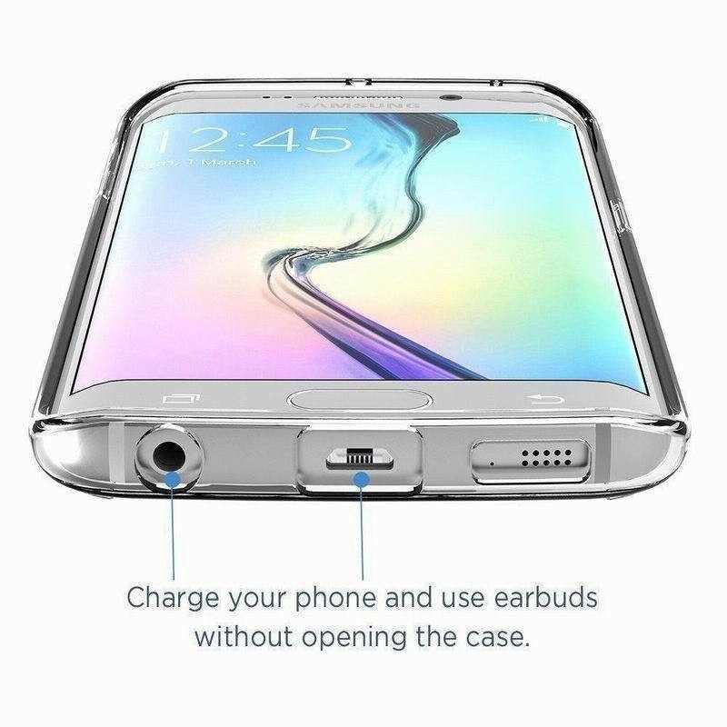 360 Độ Full Bao Mềm Lưng Silicone Trong Suốt dành cho Samsung Galaxy Samsung Galaxy S6 S7 Edge S8 S9 S10 Plus Note 8 9 J5 J7 Prime 2015 2016 2017
