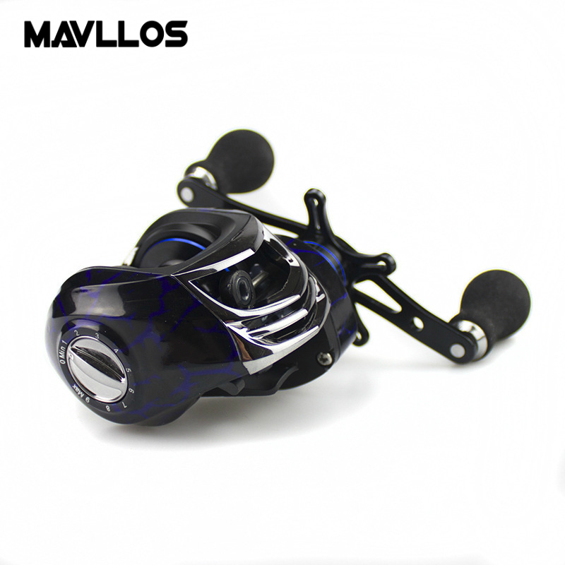 Mavllos Ratio 7.2:1 18BB Lure Bait Casting Fishing Reel Left Right Hand Magnetic Brake Baitcaster Baitcasting Reels For Fishing