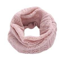 Осенне-зимний женский теплый вязаный шарф, модный детский теплый шарф для шеи, мягкий и удобный воротник с круглым вырезом для маленьких мальчиков и девочек