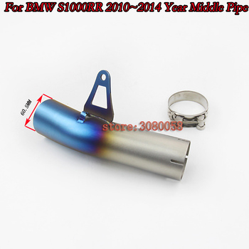 S1000RR Stainless Steel Motorcycle Motorbike Exhaust Middle Link Pipe Connector Slip On For BMW S1000RR 2010 2011 2012 2013 2014