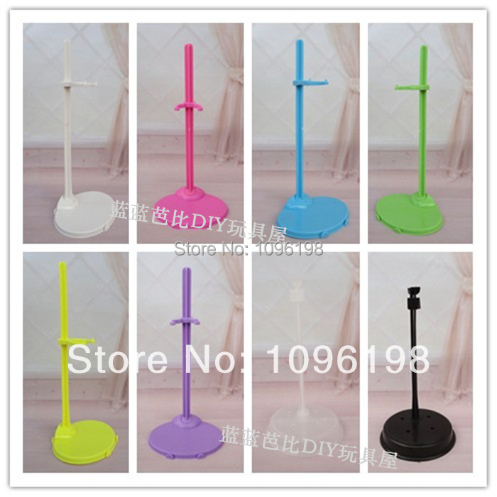 Free shipping, 50 pcs/lot hot selling Doll Stand Display Holder For Barbie Dolls/Monster High dolls-in Dolls Accessories from Toys & Hobbies    1