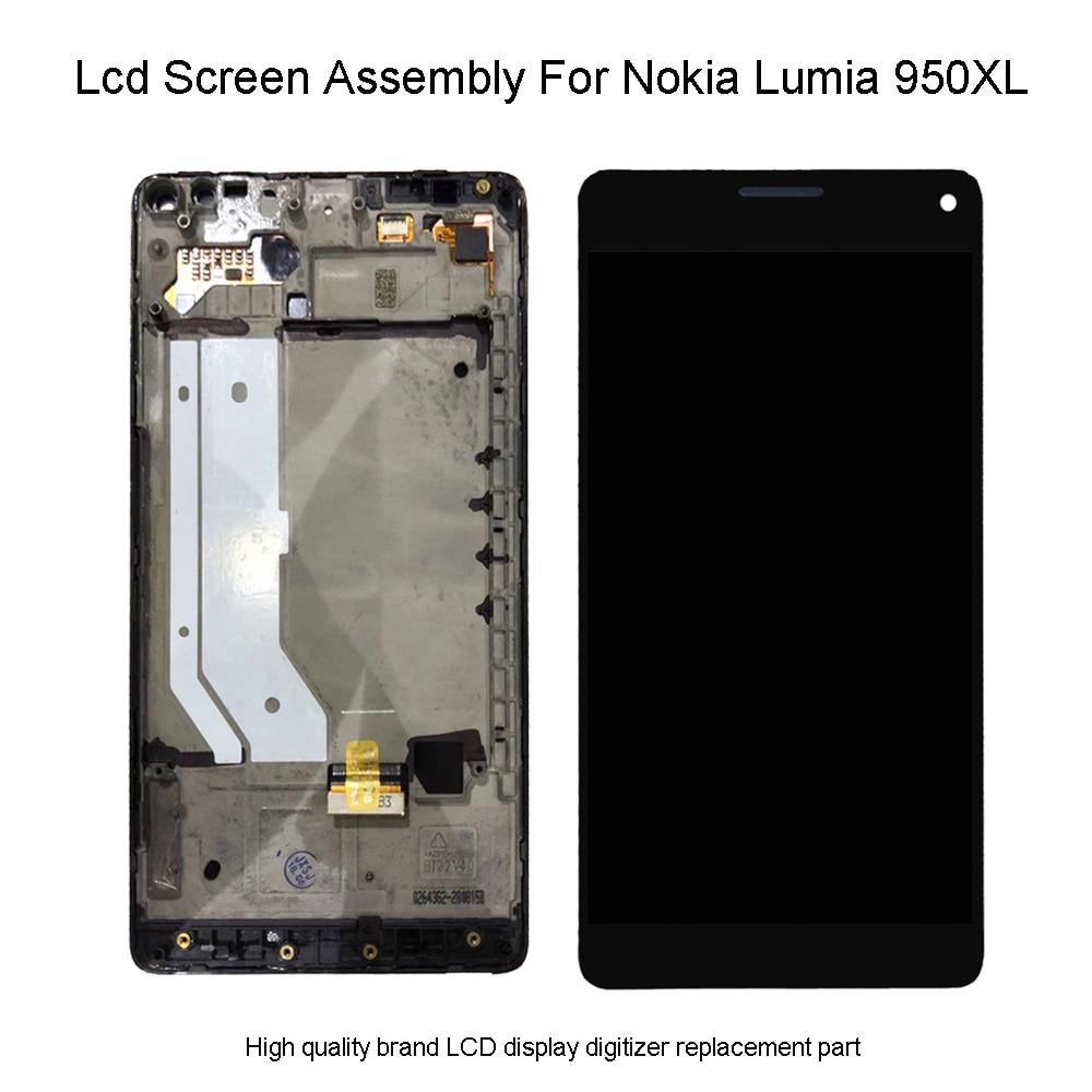 Kwaliteit Lcd Voor Microsoft Nokia Lumia 950Xl Lcd Touch Screen Digitizer Vergadering Voor Lumia 950 XL RM 1116 LCD-in LCD's voor mobiele telefoons van Mobiele telefoons & telecommunicatie op AliExpress - 11.11_Dubbel 11Vrijgezellendag 1