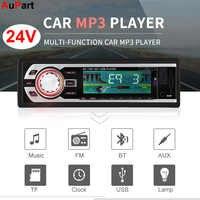 24V camión Coche Radio 1Din manos libres Bluetooth TF USB MP3 jugador Coche Dash Estereo Poste Para Auto Audio estéreo Carro Automotivo
