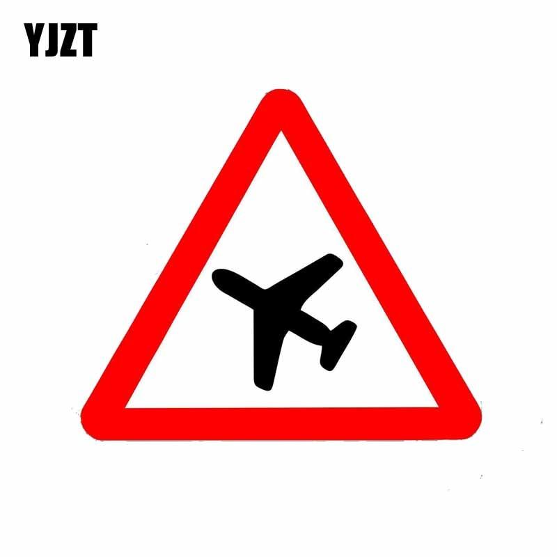 YJZT 15CM*13CM  Warning  The Pilot Warns The Reflective Car Sticker PVC Decal 12-0807