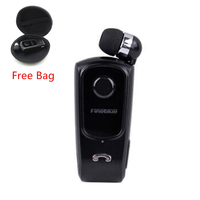 Wireless Bluetooth 4 0 Headphone In Ear Earphone Calls Remind Vibration Wear Clip Headset F920