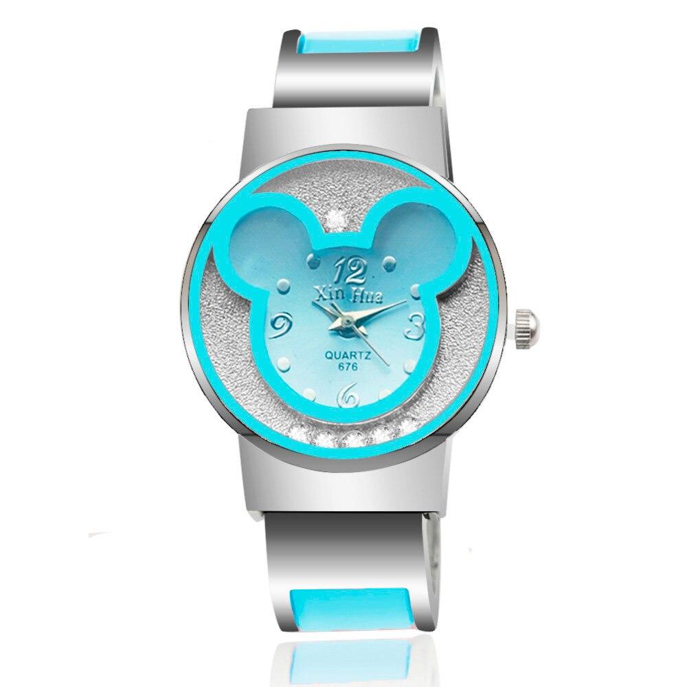 Watches Women Mickey Mouse Stainless Steel Women Watches Clock Ladies Watch Relojes Mujer Montre Femme Zegarek Damski 2019 Saati 5