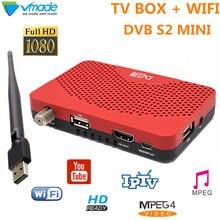 DVB-S2 мини цифровое спутниковое телевидение приемник поддерживает Youtube интерактивное телевидение CCcam DVB S2 ТВ тюнер с USB WI-FI ключ MPEG4 h.264 телевизионная приставка DVB