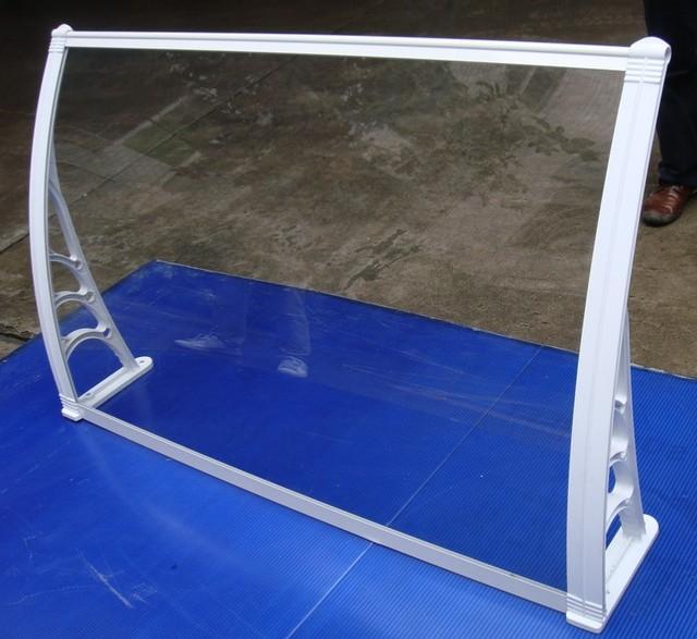 YP100360 100x360 cm 39x140in varanda pc dossel toldo, janela de plástico suporte de toldo dossel toldo polycarebonate, porta toldo