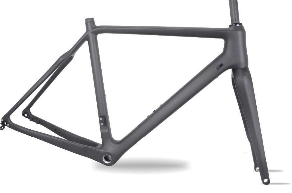 T700 Full Carbon CX Bike Frame,high Quality Carbon Cyclocross  Bicycle Frame,160mm Disc Cyclocross Carbon Bike Frame