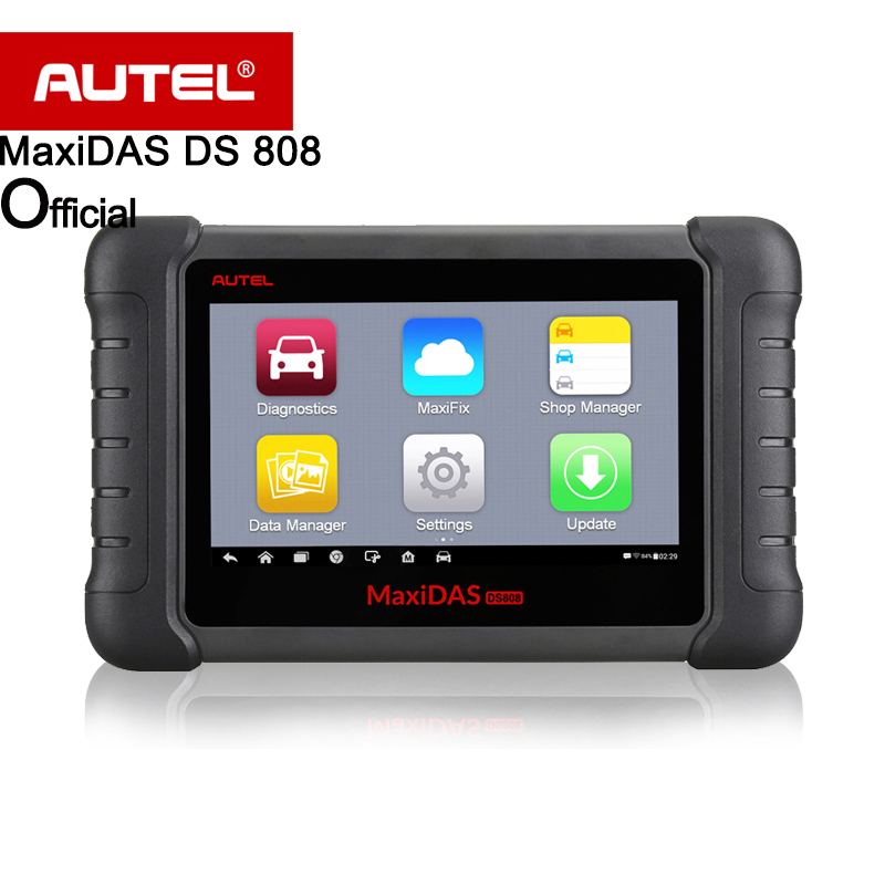 Autel Maxidas DS808 OBD2 Diagnostic Tool Upgrad of DS708 Full set OBDI Adapters for optional automotive Scanner Same as MS906 2014 r2 new design multidiag pro same as obd2 vd tcs cdp scanner no bluetooth free activate 8car 8truck cable dhl free ship