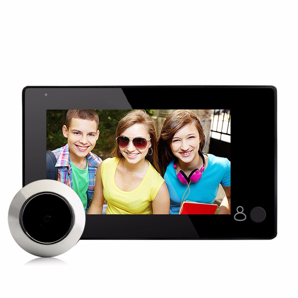 MOOL Danmini Brand Doorbell New 2.0MP HD Digital Peephole Viewer 4.3 inch TFT Screen Door Peephole Viewer IR Camera 145 Degree