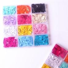 50Pcs/Box Korean Hairpins Small 3cm Hair Clips Kids Metal Snap Headwear Cute Girls Waterdrop Candy Color Accessories