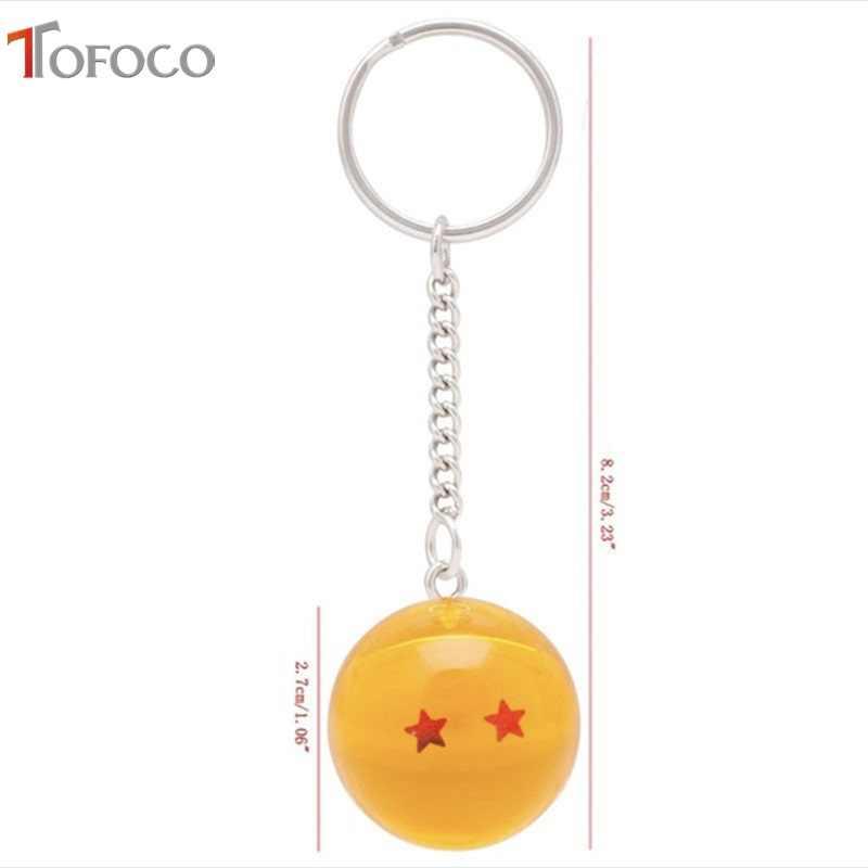 7 TOFOCO Anime Dragon Ball Z Estrelas Balls 2.7 centímetros estrelas Dragon Ball Z PVC Figuras Brinquedos Chaveiro Pingente chaveiro dos desenhos animados
