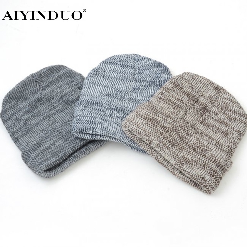 2017 new men warm hats beanie hat winter knitting wool hat for unisex caps lady beanie knitted caps women s hats warm z1 Autumn Winter Beanie Warm Hat Knitted Wool Cap Skullies Caps Ladies Knit Winter Hats for Women Beanies Men Cool Hip-Hop Cap
