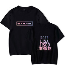 BLACK PINK BLACKPINK KPOP Girl's Group T Shirt Men/Wome JISOO JENNIE ROSE LISA Hip Hop Short Sleeve T-Shirt Femme Streetwear 4XL(China)