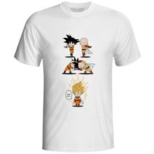 One Punch Super Saiyan T-shirt Cool Fashion Anime Dragon Ball Goku Fusion Man Punk T Shirt Pop Casual Women Men Top