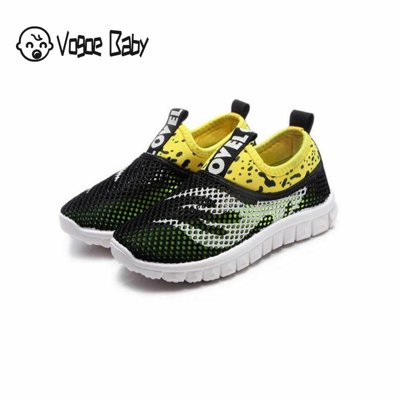 Boys Girls Running Spring Kids Shoes Kids Sneakers For Mesh Breathable Children Sports Shoes Soft Rubber Sole School