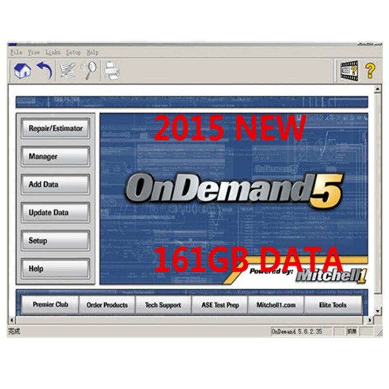 Logiciel de réparation automatique Mitchell à la demande 5 2015 V en 250 gb hdd usb disque dur mitchell ondemand logiciel de réparation de voiture pour la plupart des voitures
