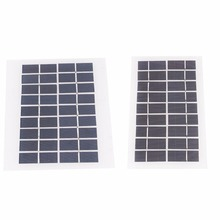 HOT 2018 Universal Solar Cells 3 5W 9V Tempered Glass Polycrystalline DIY Solar Panel Charger Charging