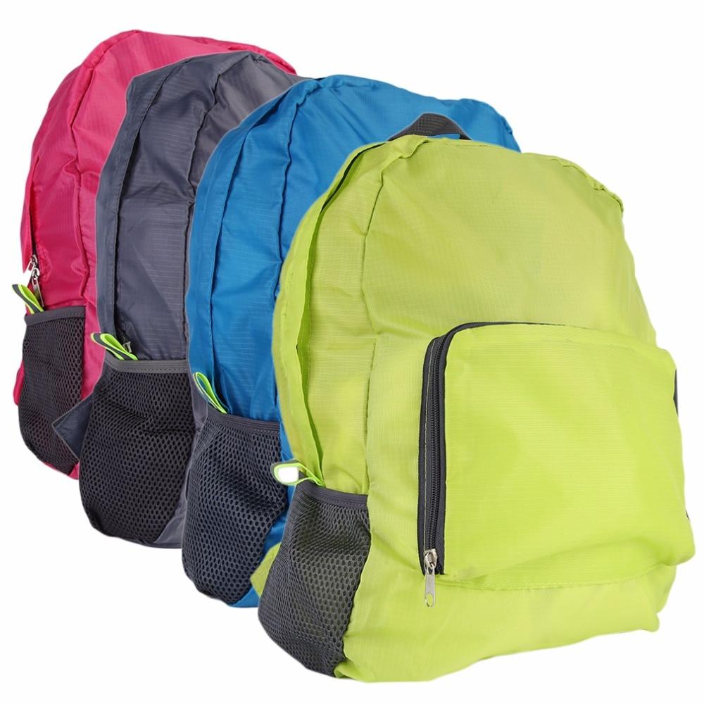 Women men Waterproof Backpack Foldable Nylon Zipper Solid Travel Bags Multi-Functional Ultralight School Bags Sport Backpack