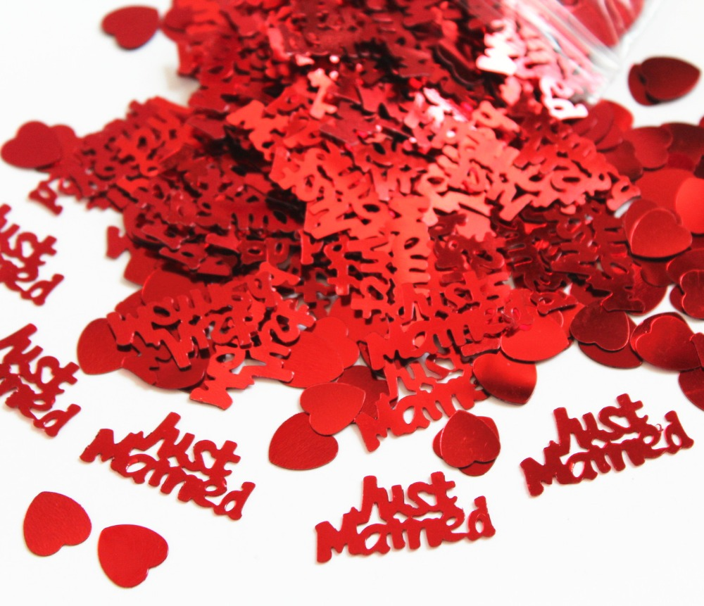 Wedding Decoration Kits 50g 3015mm Table Party Scatters Ruby Red