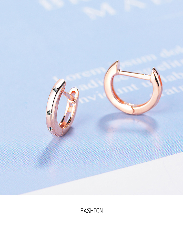 Muye 925 Sterling Silver Tassel Earrings Rose Red Crystal Heart Shape For Women
