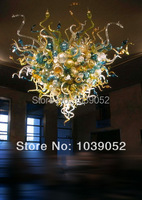 Multi Colored Murano Brown Glass Chandelier Hand Blown Glass LED Blubs Chandelier Lamps for Livingroom Art Decoration