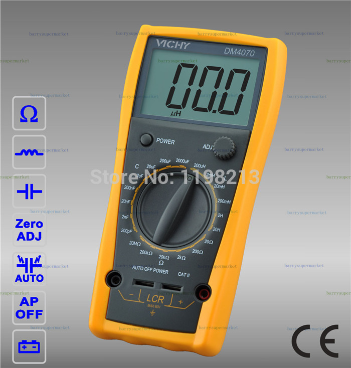 VICHY VICI DM4070 Digital Multimeter 3 1/2 Digit 20H 2000uF Self-discharge Inductance Resistance Capacitance LCR Meter Tester