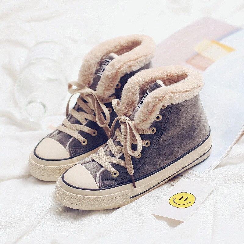 Tleni de correr de invierno zapatos de mujer zapatos de cuero de gamuza Deporte Zapatos de Mujer Zapatos botas de nieve de algodón al aire libre-acolchado Zapatos Zapatillas de deporte ZF-07