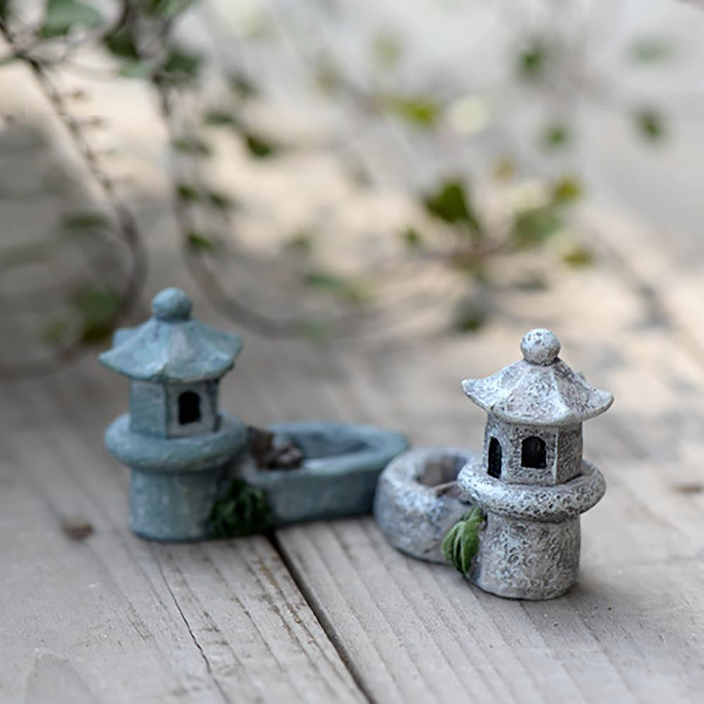 Pool Tower Miniature Mini Pool Tower Miniature Landscape DIY Ornament Garden Decoration Resin