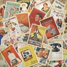32pcs Vintage Poster Postcard Set / Greeting Card Assorted / Birthday Cards Lot