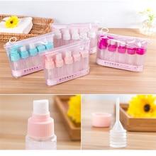 7pcs/Set Travel Mini Makeup Cosmetic Face Cream Pot Bottles Plastic Transparent Empty Eyeshadow Make Up Container Bottle