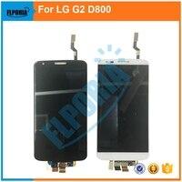 Для LG G2 D800 touch Экран планшета Панель Сенсор Стекло + ЖК-дисплей Дисплей Мониторы Экран модуль Панель сборки 100% Тесты