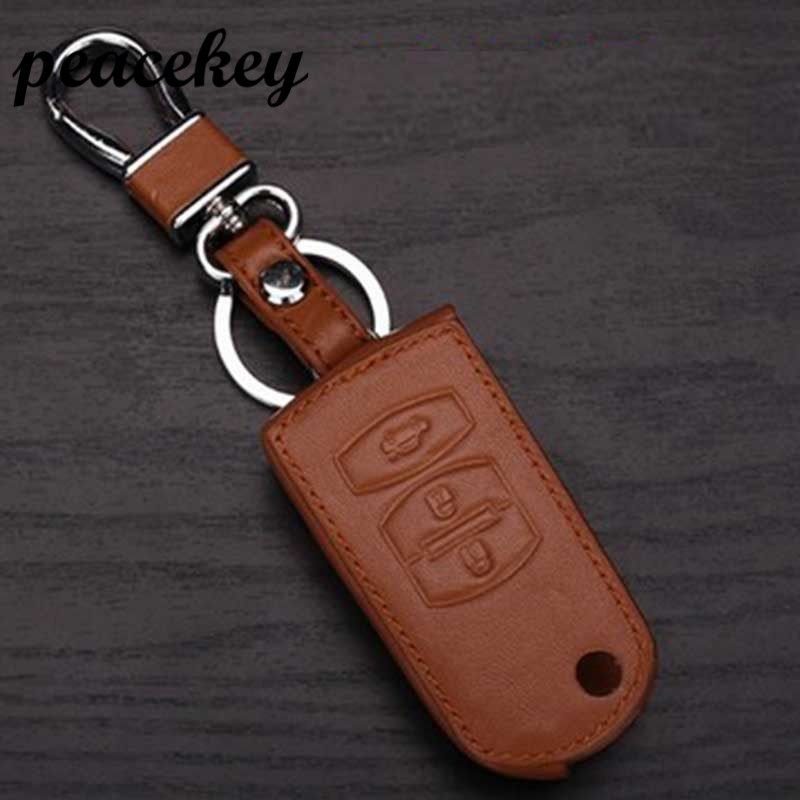 Peacekey Genuine Leather Key sticker case For Mazda 2 3 323 6 2014 626 Axela Cx5 Cx7 Cx9 Demio Familia Miata Key Bag For Mazda givenchy 2014 12g 2 7