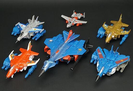 Toys For Boys To Color : 6pcs lot make up to superion g2 color silverbolt skydive slingshot