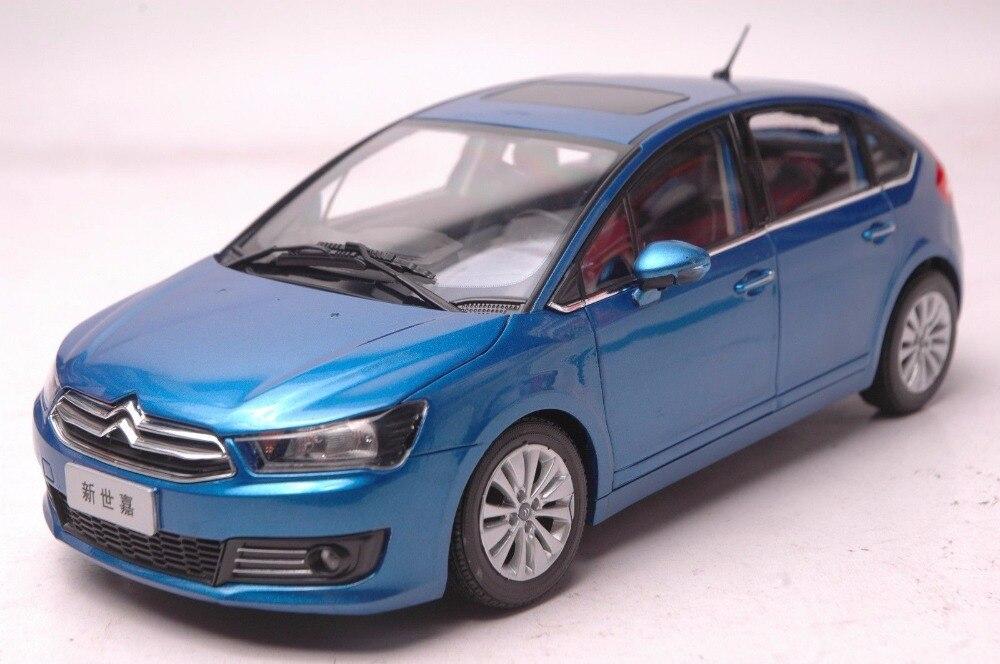 1:18 Diecast Model for Citroen C-Quatre 2012 Blue Hatchback Alloy Toy Car Miniature Collection Gift Sega mercedes benz sls 1 18 maisto amg gt car model alloy diecast boy gift collection sports car fast