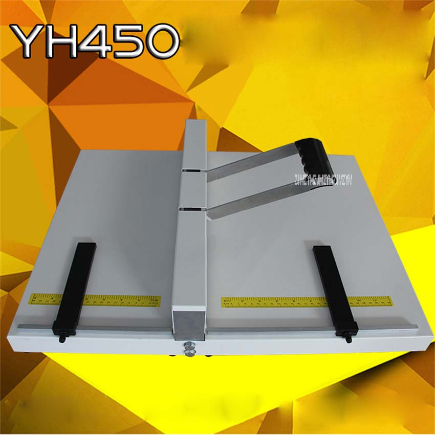 YH450 Heavy Duty paper Creaser manual, creasing 455mm photo paper machine, manual scoring machine, Manual indentation machine  office paper creaser creasing machine for paper photo card 460mm manual scoring machine 18