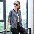 Plus Size 2016 New Fashion High Quality Denim Jacket Coat  Newest Korean Female Spring Jacket Women Jeans Basic Jacket Coat D587