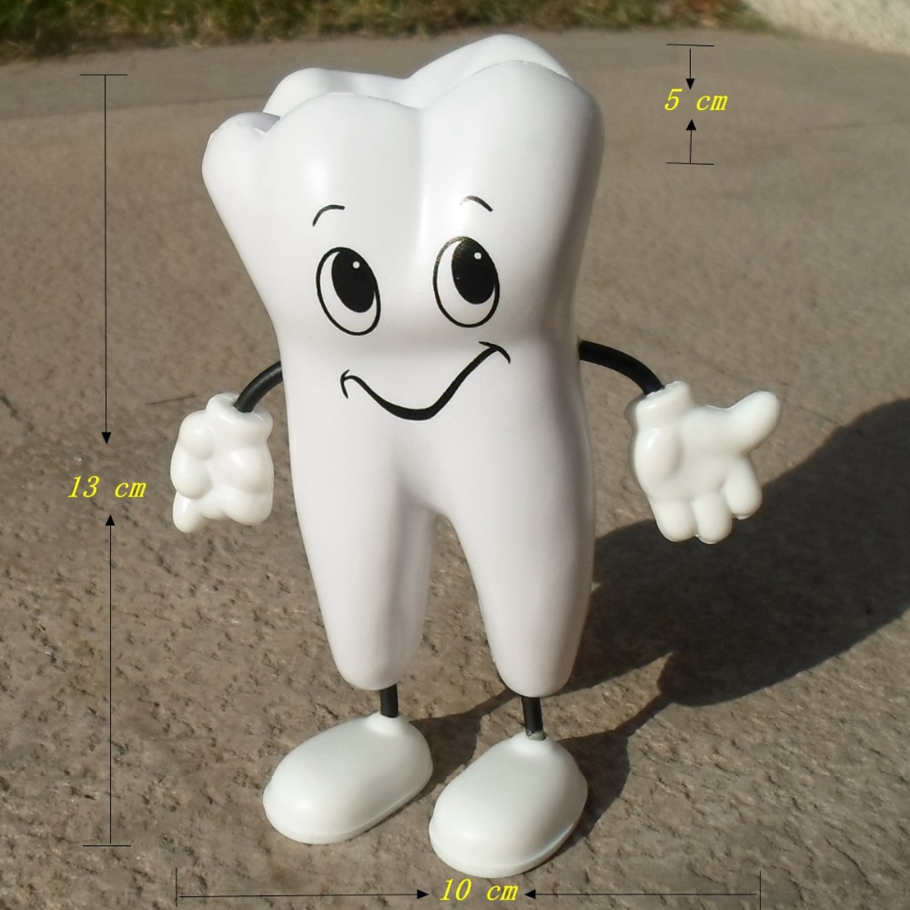 Tooth Figure Squeeze Toy Soft PU Foam Tooth Stress Reliever Dentistry Promotional Items Dentist Gift