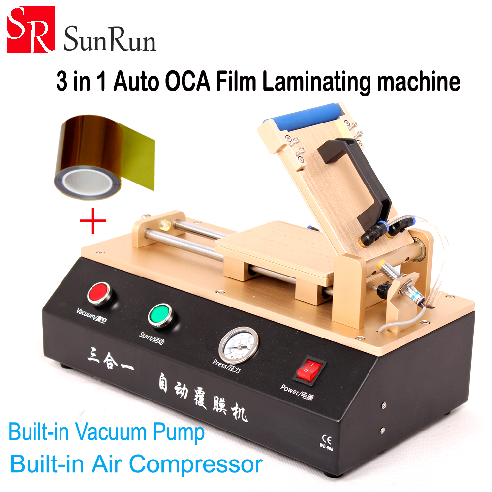 3 in 1 Automatic OCA Film Laminating Machine With Built in Vacuum Pump and Air Compressor For LCD Screen Repair