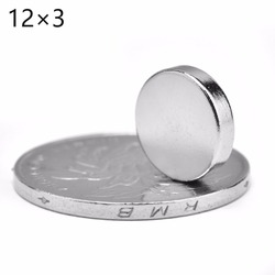 Wholesale Top Quality 10PCS 12x3mm Super Strong Round Disc Magnets Rare Earth Neodymium Magnet N52 12*3MM