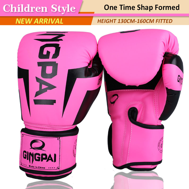 Boxing Gloves Kids 4 Oz Pink Boxing Gloves for Boys Girls Toddler PU Leather