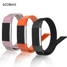 SCOMAS For Fitbit Charge 2 Bands Nylon Magnet Replacement Bands Fitness Bracelet Strap with Metal Clasp for Fit Bit Charge2