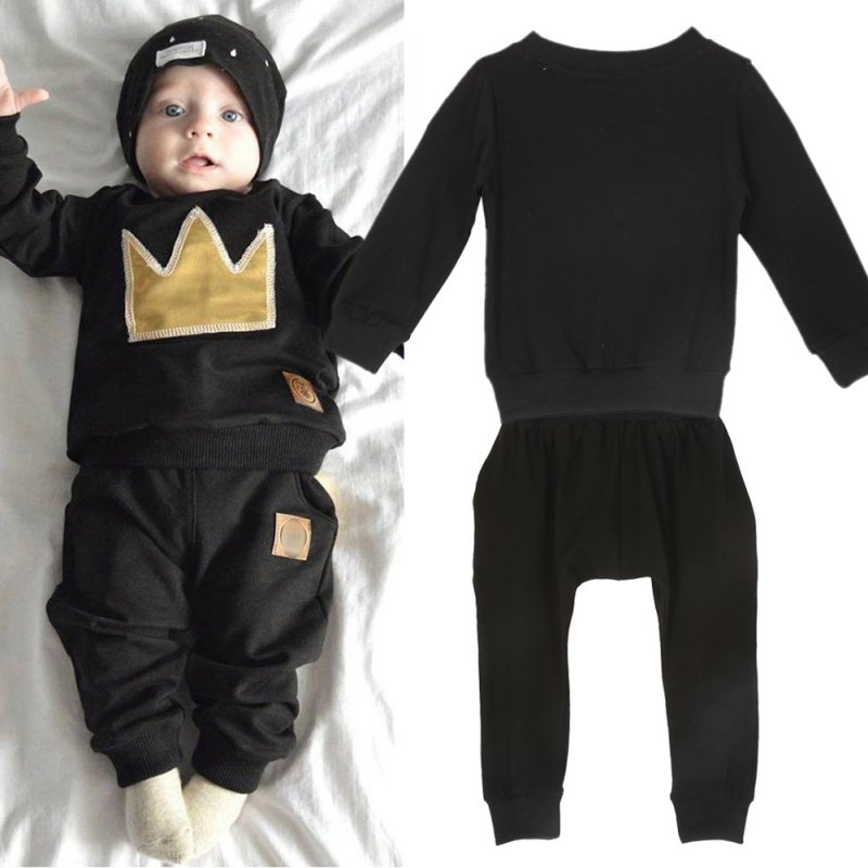 New-2-Pcs-Newborn-Toddler-Infant-Baby-Boys-Girls-Clothes-Set-T-shirt-TopsPants-Outfits-S01-2