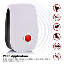 1pc Pest Control Ultrasonic Pest Repeller Mosquito killer Electronic Ultrasonic Insect Spider Repeller Mosquito Repellent 3 Plug